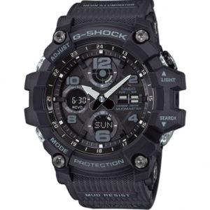 Мъжки часовник Casio G-Shock Mudmaster GWG-100-1AER. Водоустойчив 20 БАРА, Черен, Полимерна, Комбиниран, Соларен. Гаранция 24 месеца. Безплатна доставка.