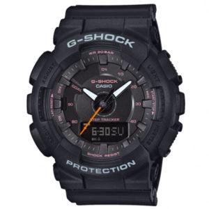 Мъжки часовник CASIO G-SHOCK GMA-S130VC-1AER. Водоустойчив 20 БАРА, Черен, Полимерна, Комбиниран, Батерия. Гаранция 24 месеца. Безплатна доставка. Виж цена.